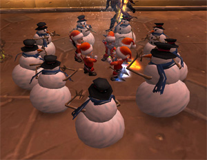 Feast Of Winter Veil World of Warcraft Event Snowmen