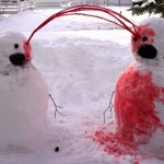 eyeball bloody explosion snowpeople