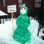 st patricks day snowman
