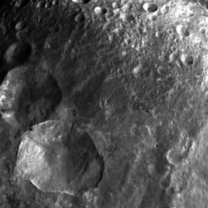 asteroid vesta snowman craters