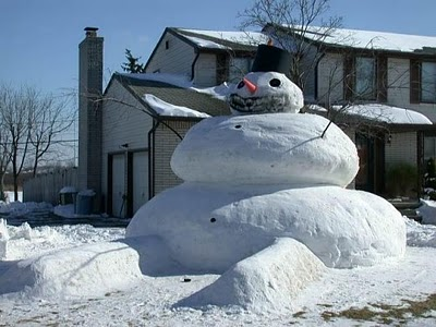 extra wide snowman