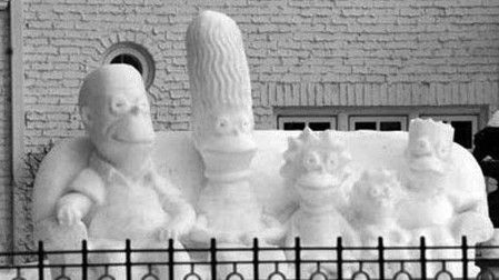 snow simpsons