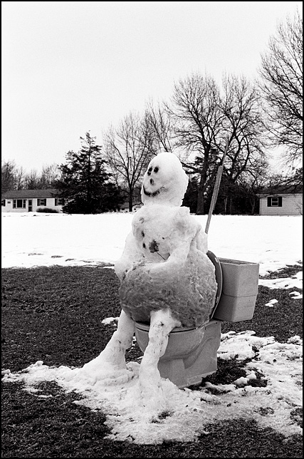 Snowman on the Toilet