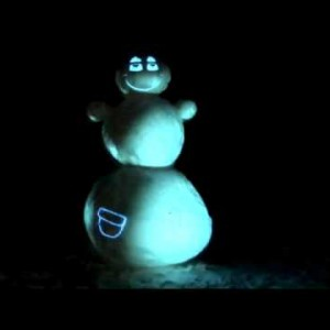 Projection Mapped Snowman