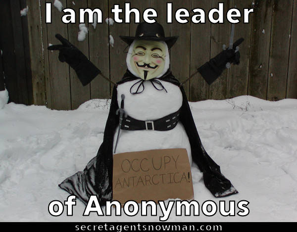 I am the leader of anonymous