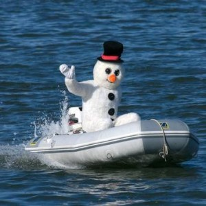snowman on dingy