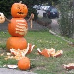 deadly pumpkin snowman attack