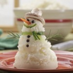 mashed potatoes snowman