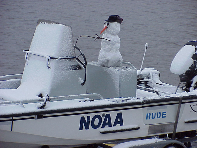 boat operations snowman