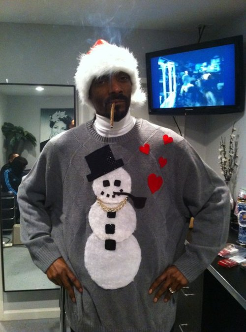 snoop dog snowman sweater